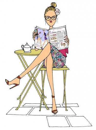Girl Magazine Chair
