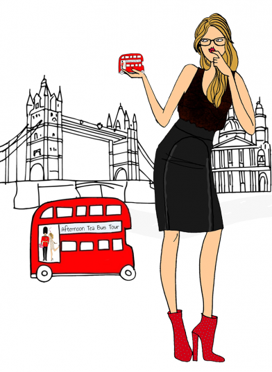 London bus advertising girl