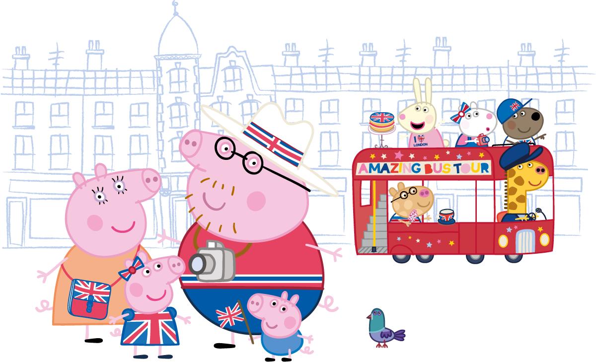 London Bus Tour for Kids - Peppa Pig Afternoon Tea Bus Tour