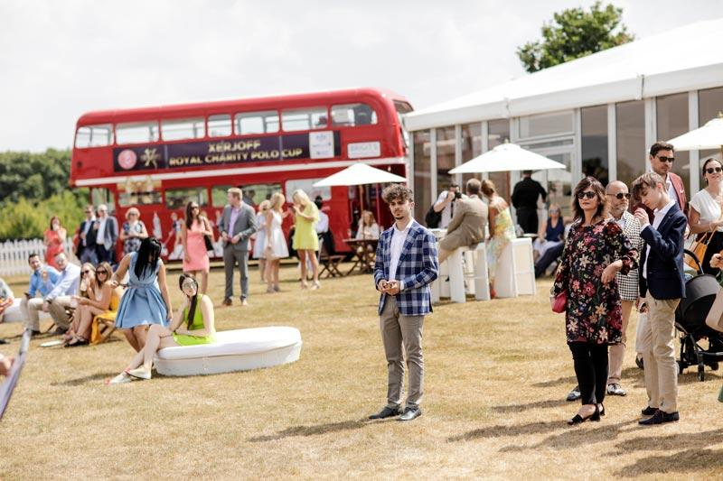 event catering london - polo and B Bus