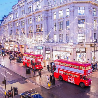 Christmas Lights Bus Tour Regents Street