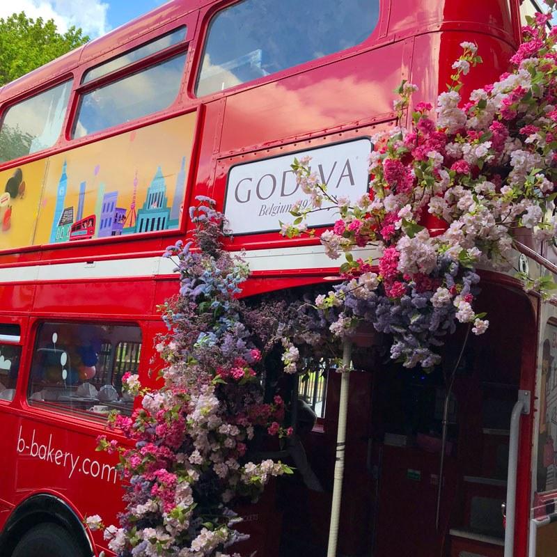 Godiva hire B bus for corporate events London