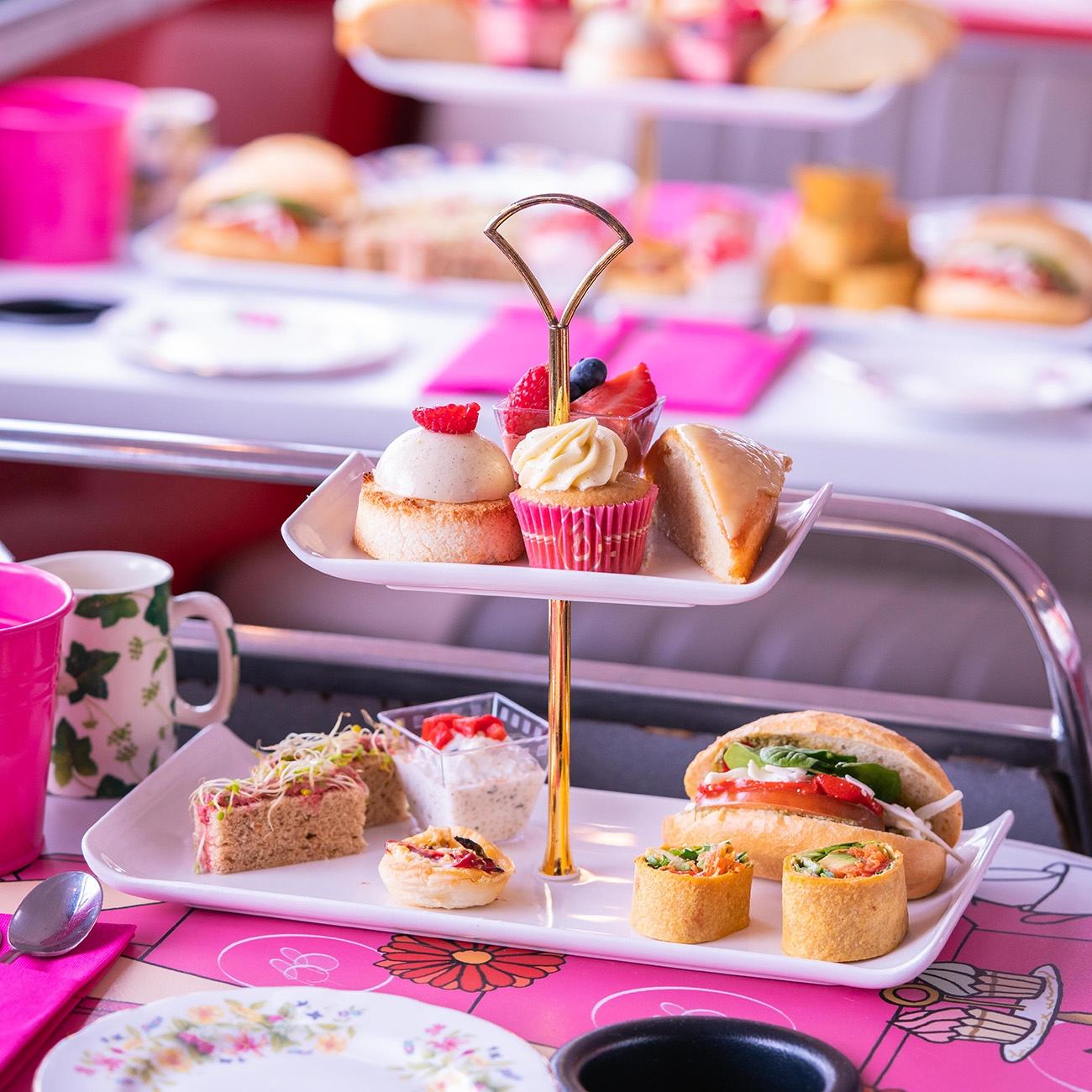 Vegan Afternoon Tea London Bus Tour